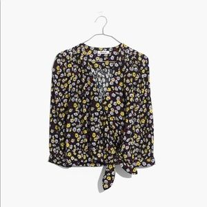 Madewell wrap top French floral